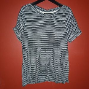 Talbots Sz Large Stripped Tee